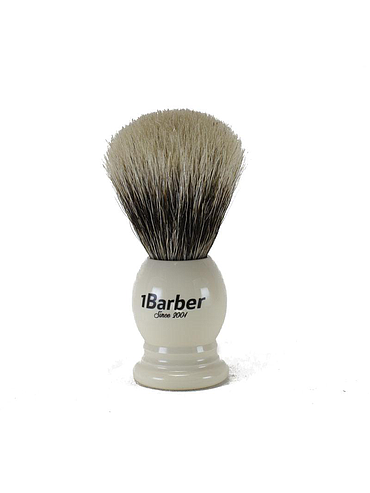 1Barber - Best Badger Shaving brush - Ivory - 21mm