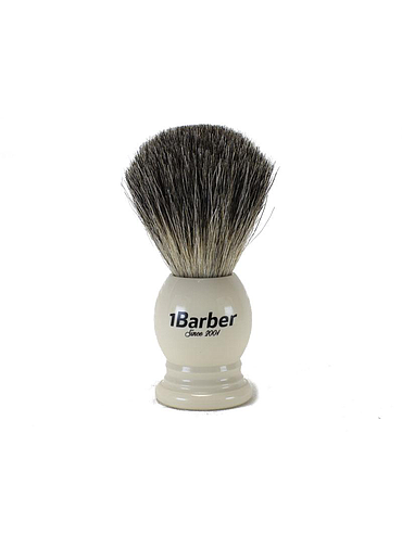 1Barber - Pure Badger Shaving Brush - Ivory - 21mm