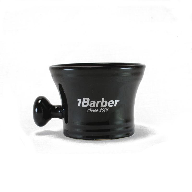 1Barber - Black Porcelain Shaving Bowl