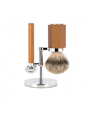 Muehle - Hexagon - 3 Piece Shaving Set - Bronze