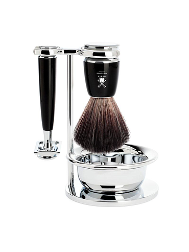 Muehle - Rytmo - 3 Piece Shaving Set - Black Resin