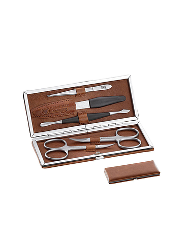 Dovo - Manicure Set - Brown