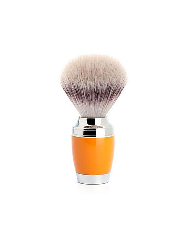 Muehle - Pen - Shaving brush - Silvertip Fiber - Orange resin - 21mm