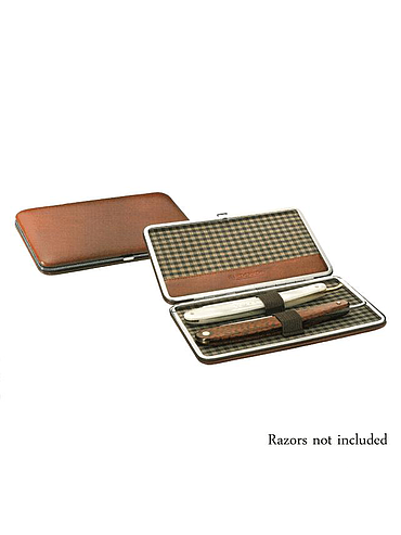 Dovo - Brown Leather Straight Box