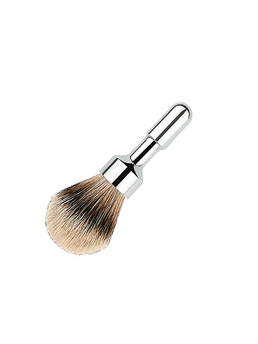 Merkur - Futur - Silvertip Shaving Brush - Chrome - 23mm