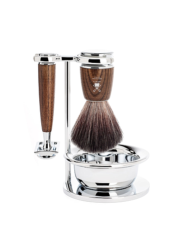 Muehle - Rythmo - 3 Piece Shaving Set - Steamed Ash
