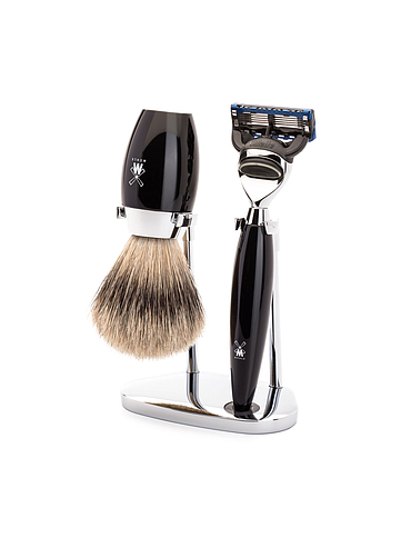 Muehle - Kosmo - Shaving Kit - Black Resin - Fusion