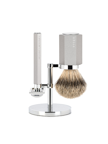 Muehle - Hexagon - Shaving Set Pure - Silvertip