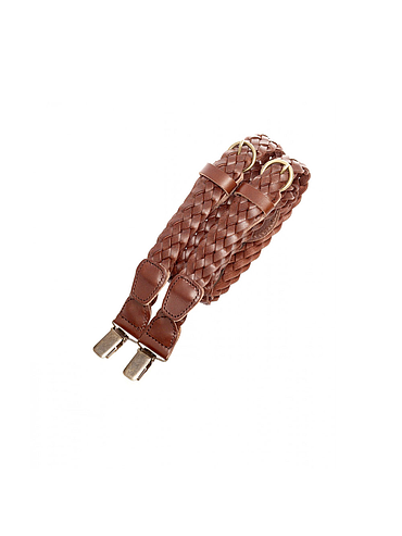 Braided leather Suspenders