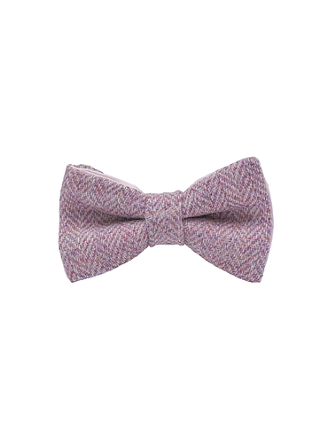 "Jaggs - Nœud papillon Tweed ""Dundee"" - Chevron rose"