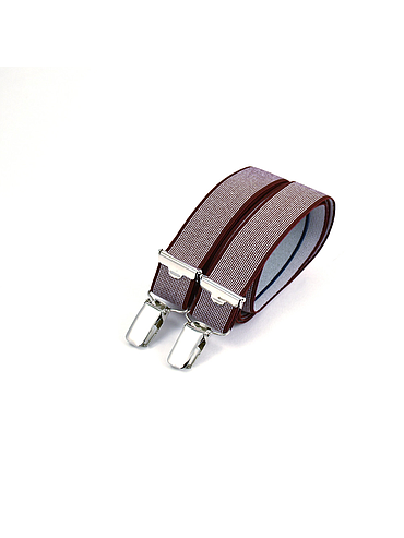 Skinny clip-on suspenders - Speckled Bordeaux