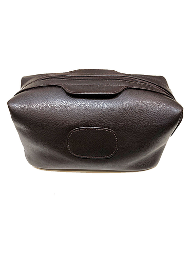 Fine leather wash bag