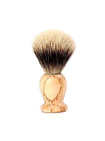 Gentleman - Pure White shaving brush - Birchwood - 21mm