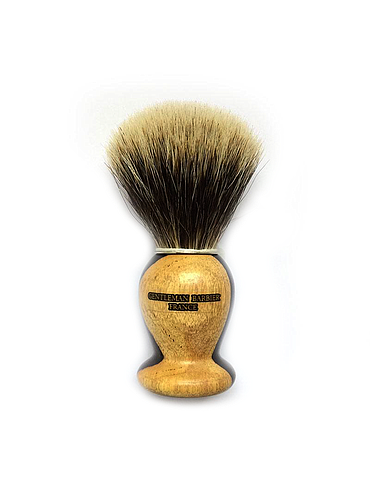 Gentleman - Pure White shaving brush - Ebony - 21mm