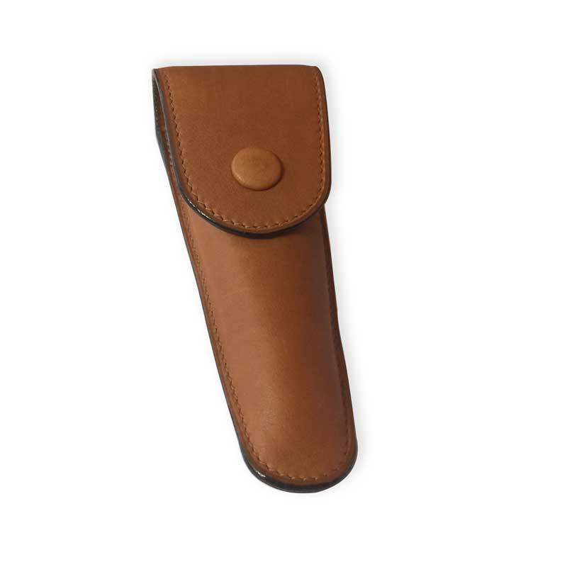 Intuition - Safety Razor Leather Case - Medium with Blade Holder