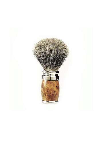 Joris - Pure White Shaving Brush - Tuya Burl - 20mm