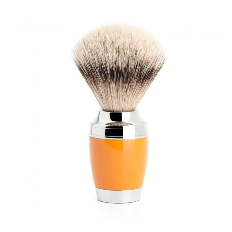 Muehle - Pen - Silvertip shaving brush - Orange resin - 21mm