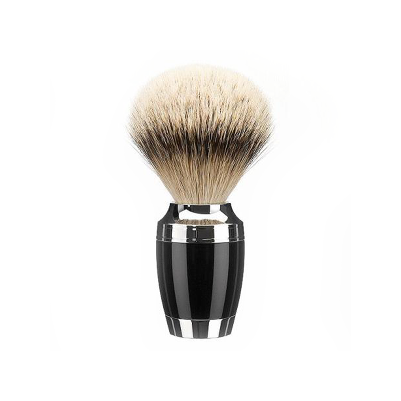 Muehle - Pen - Silvertip shaving brush - Black resin - 23mm