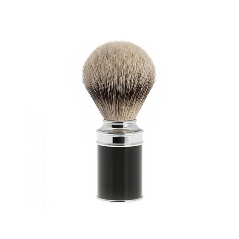 Muehle - Traditional Blaireau Silvertip - Noir - 19mm