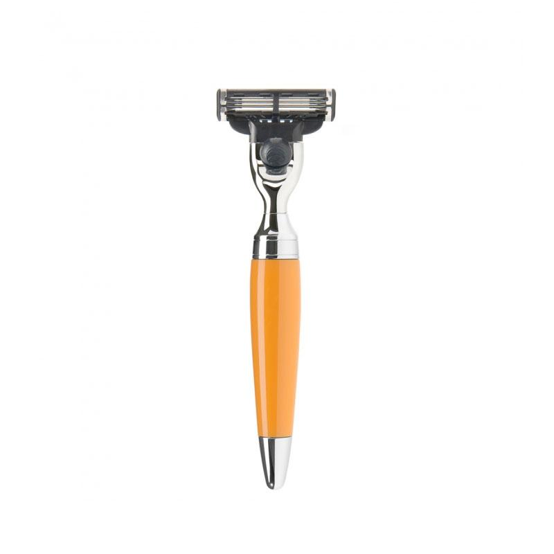 Muehle - Pen - Orange Resin - Mach 3 Multi-blade Shaver