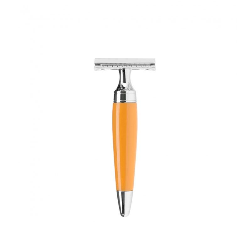 Muehle - Pen - Orange resin - Safety razor