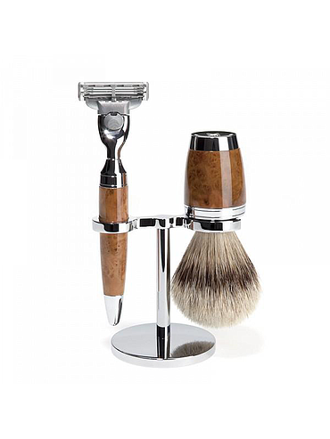 Muehle - Pen - Shaving set 3 pieces - Thuya