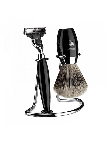 Muehle - Kosmo - 3 Piece Shaving Set - Black Resin